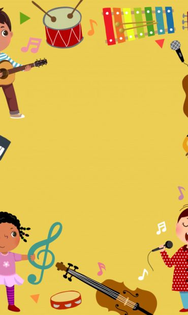 template-advertising-background-music-concept-with-three-kid-musicians_283146-88